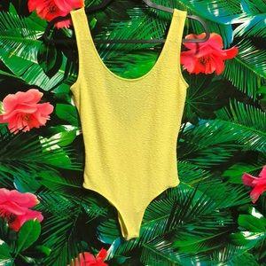 EUC SOLEMIO Los Angeles Neon Bodysuit